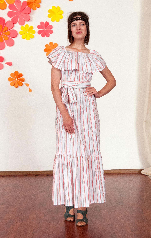 Платье для беременных и кормящих Летняя полоска, Milk Rivers