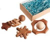 Набор погремушек и грызунков «Звездопад в подарочной коробке» Леснушки