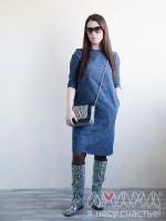 Платье женское Тарика джинс синий, Амама