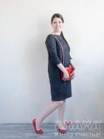 Платье женское Тарика джинс чёрный, Амама