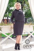 Слингопальто зимнее Diva Outerwear Antracite (без вставки для беременных)