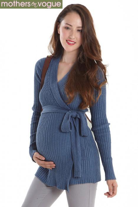 Теплый кардиган для беременных вязание спицами 52