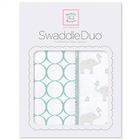 Набор пеленок SwaddleDesigns - Swaddle Duo SC Elephant & Chickies Mod Duo