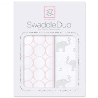 Набор пеленок SwaddleDesigns - Swaddle Duo PP Elephant & Chickies Mod Duo