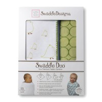 Набор пеленок SwaddleDesigns - Swaddle Duo, KW Big Chickies