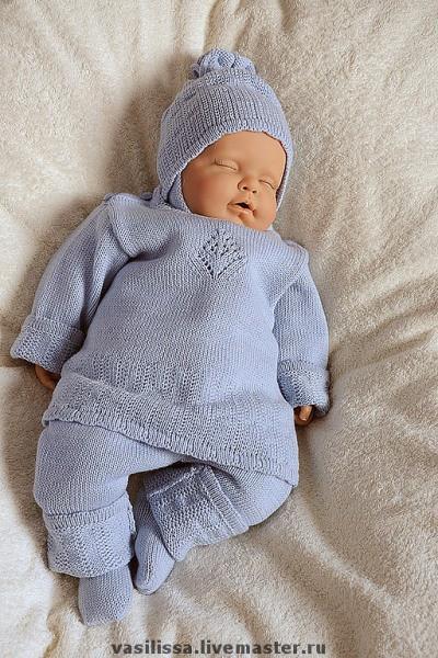 Вязание для новорожденных спицами комплекты 82
