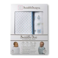 Набор пеленок SwaddleDesigns - Swaddle Duo BL Peace/LV/SW