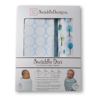 Набор пеленок SwaddleDesigns - Swaddle Duo, PB Cute & Wild