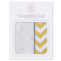 Набор пеленок SwaddleDesigns - Swaddle Duo Yellow Chevrons