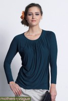 Топ для кормления Mothers en Vogue Goddess Drape , Mood Indigo