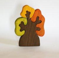 Дерево с тремя кронами осеннее, развивающая игрушка, пазл, Мастерская Михеевых